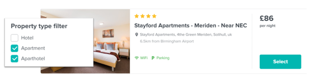 Apartments Filter