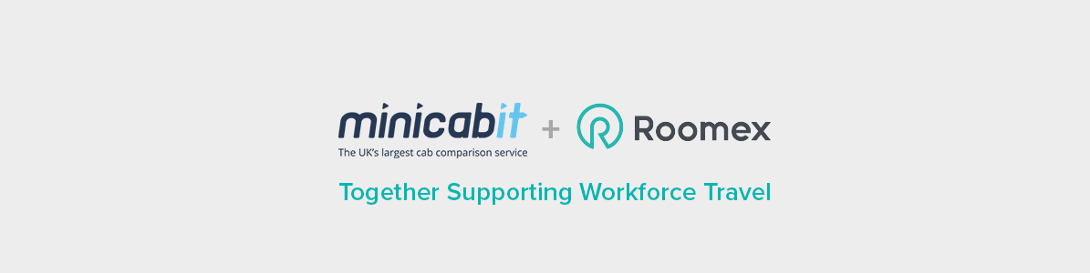 Roomex has partnered with leading cab network, minicabit, to bring its customers safe and affordable services